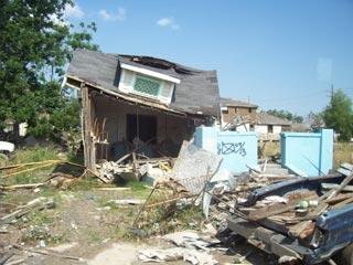 Katrina Damaaged Home